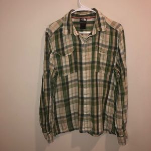 The North Face Flannel Button Down Shirt green